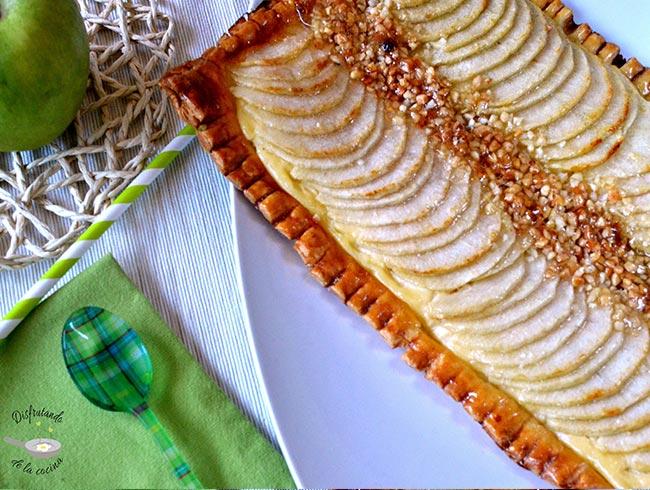 Tarta de manzana de hojaldre