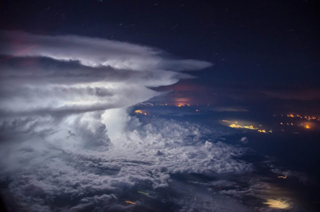 Storm seen from plane above Venezuela