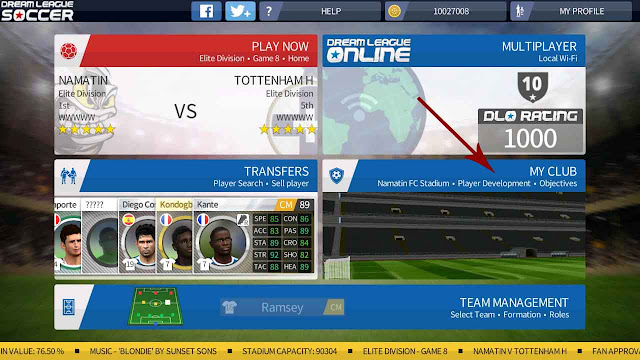 cara mengganti baju kit dream league soccer online