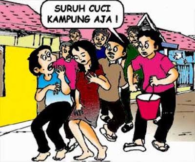 Usai Mesum, Cuci Kampung