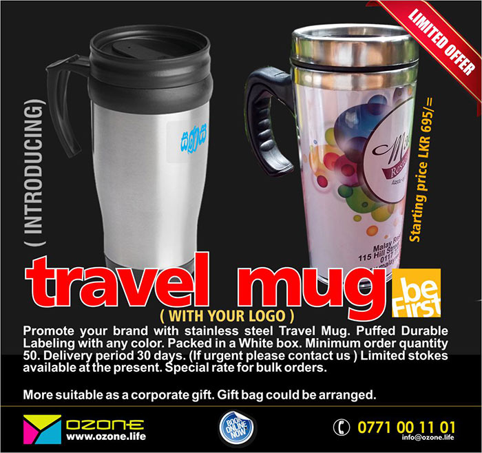 Ozone Branding | Promote your brand with stainless steel and picture Travel Mugs.