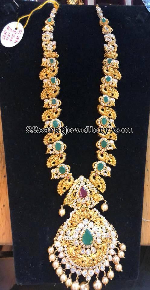 Peacock Emerald Nakshi Long Set