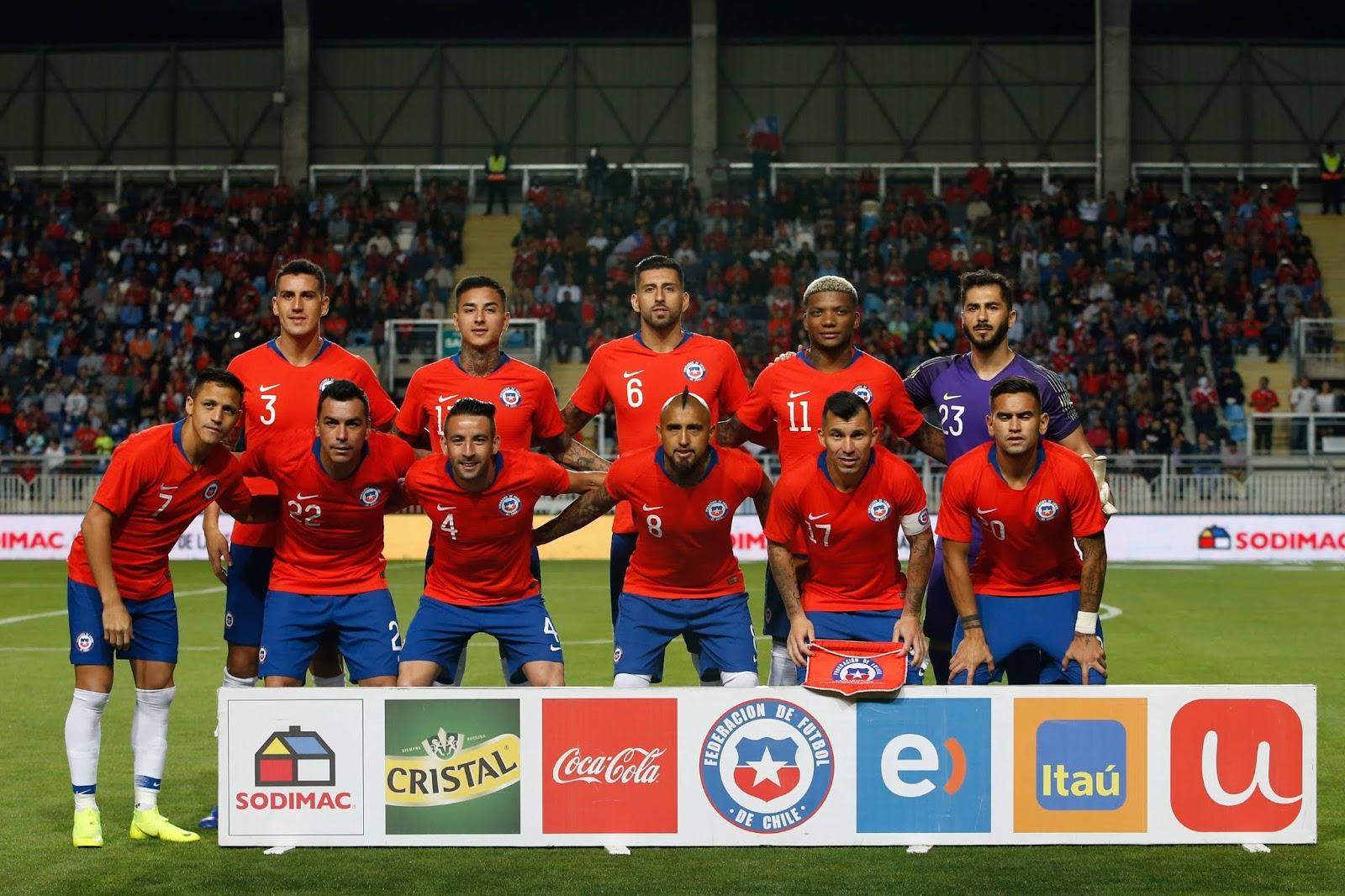 Formación de Chile ante Costa Rica, amistoso disputado el 16 de noviembre de 2018
