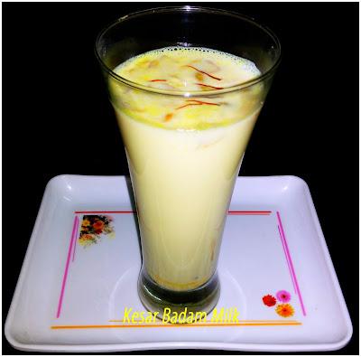 Almond, Almond Saffron Milk (Kesar Badam Milk), Beverages, Milk, Saffron, Milk, Saffron, Almond Saffron Milk Recipe,Kesar Badam Milk Recipe,How to make ake Kesar Badam Milk,How to make Almond Saffron MilkAlmond, Badam Doodh,, Kaser, Kaseri Doodh, Masala Milk, milk, Pista, Saffron