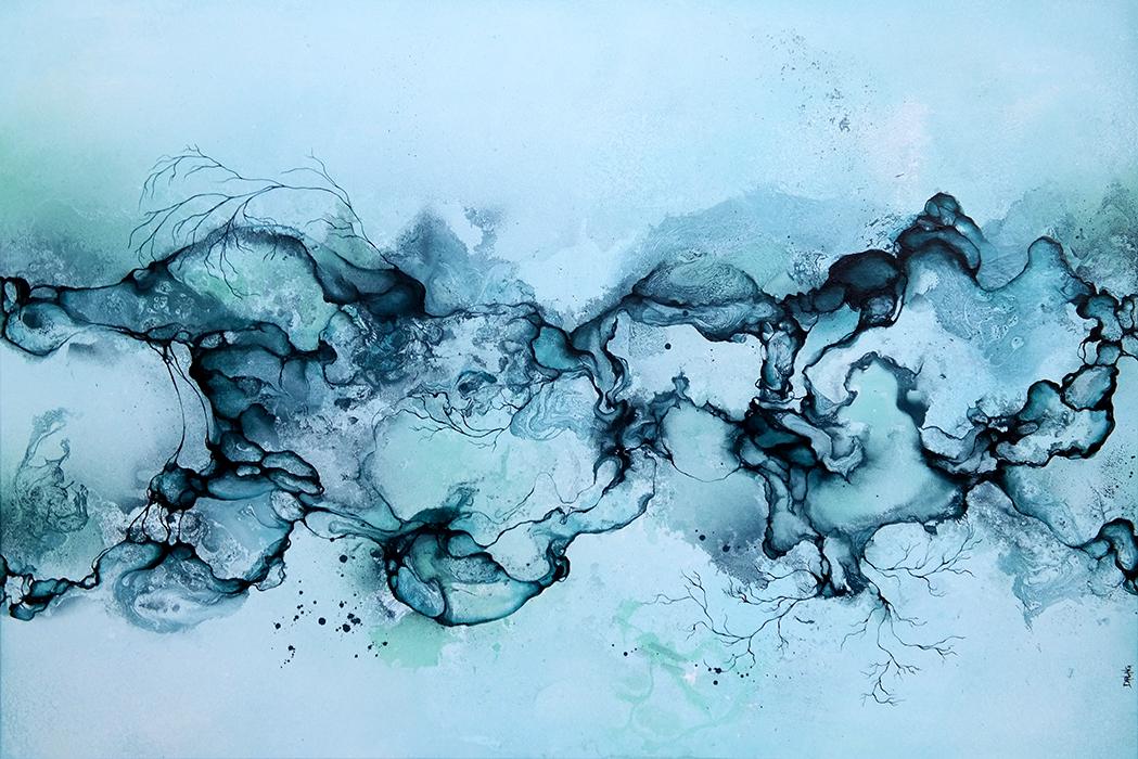 8f2f1f5f Store abstrakte malerier i blå farver | Livet og kunsten - set af ...