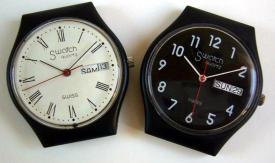 Early Swatch prototypes 1981-1982 front