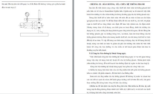Tính toán thiết kế hệ phống phanh khí nén xe tải
