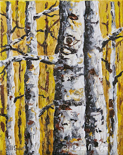tree art, aspen art, birch tree art