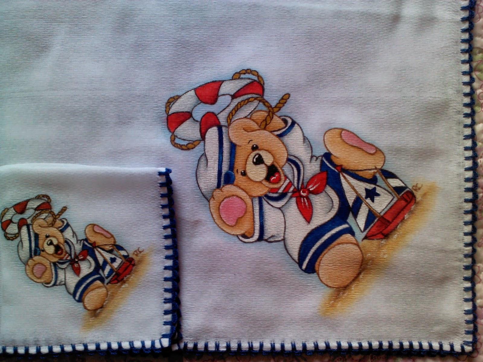 2bc13921556f6 RITA artes manuais  Pintura em fralda ursinho marinheiro!