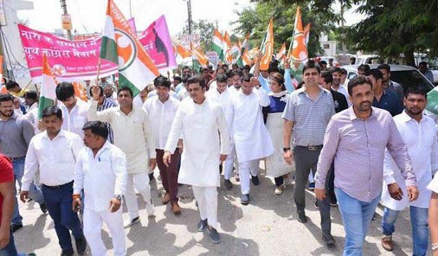 youth-congress-party-faridabad-agitation