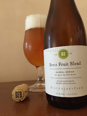 Blackberry Farm Brewery - Brett Fruit Blend 2016 recensione birra diario birroso blog birra artigianale