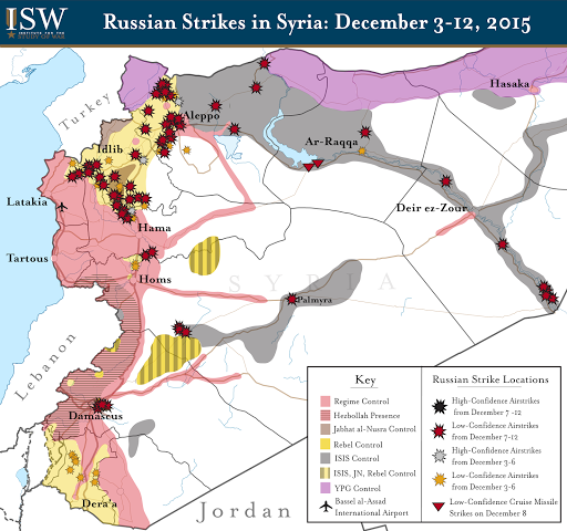 Russian Strikes in Syria: December 3-12, 2015