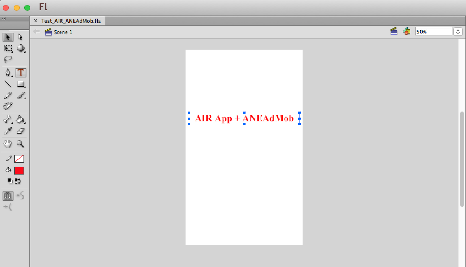 Adobe Flash Cs6 Air How To Integrate Admob Banner For Just Sampel Sample Test Aneadmobfla Then I Add Text When App Running On Screen You Dont Need It