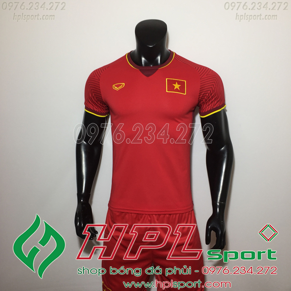 Áo  tuyển Việt Nam Đỏ 2018
