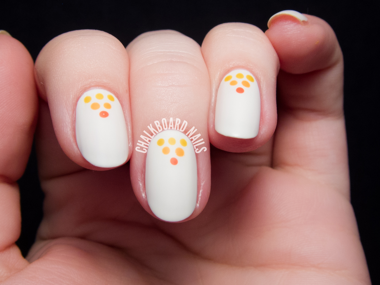 Autumnal Matte Pyramid Dots by @chalkboardnails