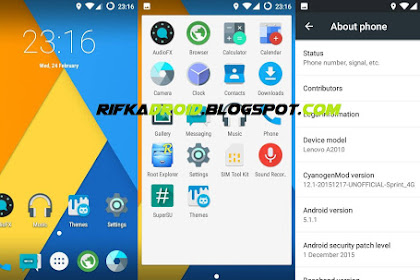 Costum Rom CyanogenMod 12.1 for Lenovo A2010