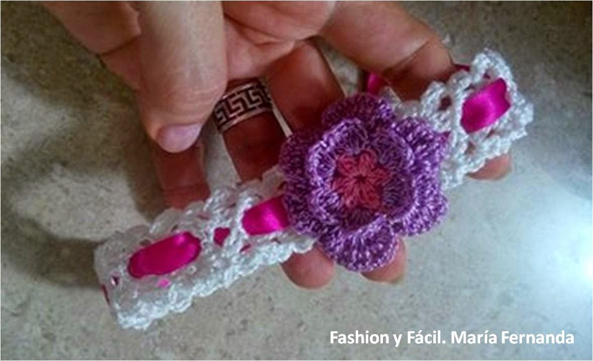 Fashion y f cil diy cintillo diadema o vincha para beb - Diademas de ganchillo ...