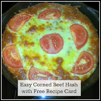 A cooked Corned Beef Hash dish, straight out of the oven.
