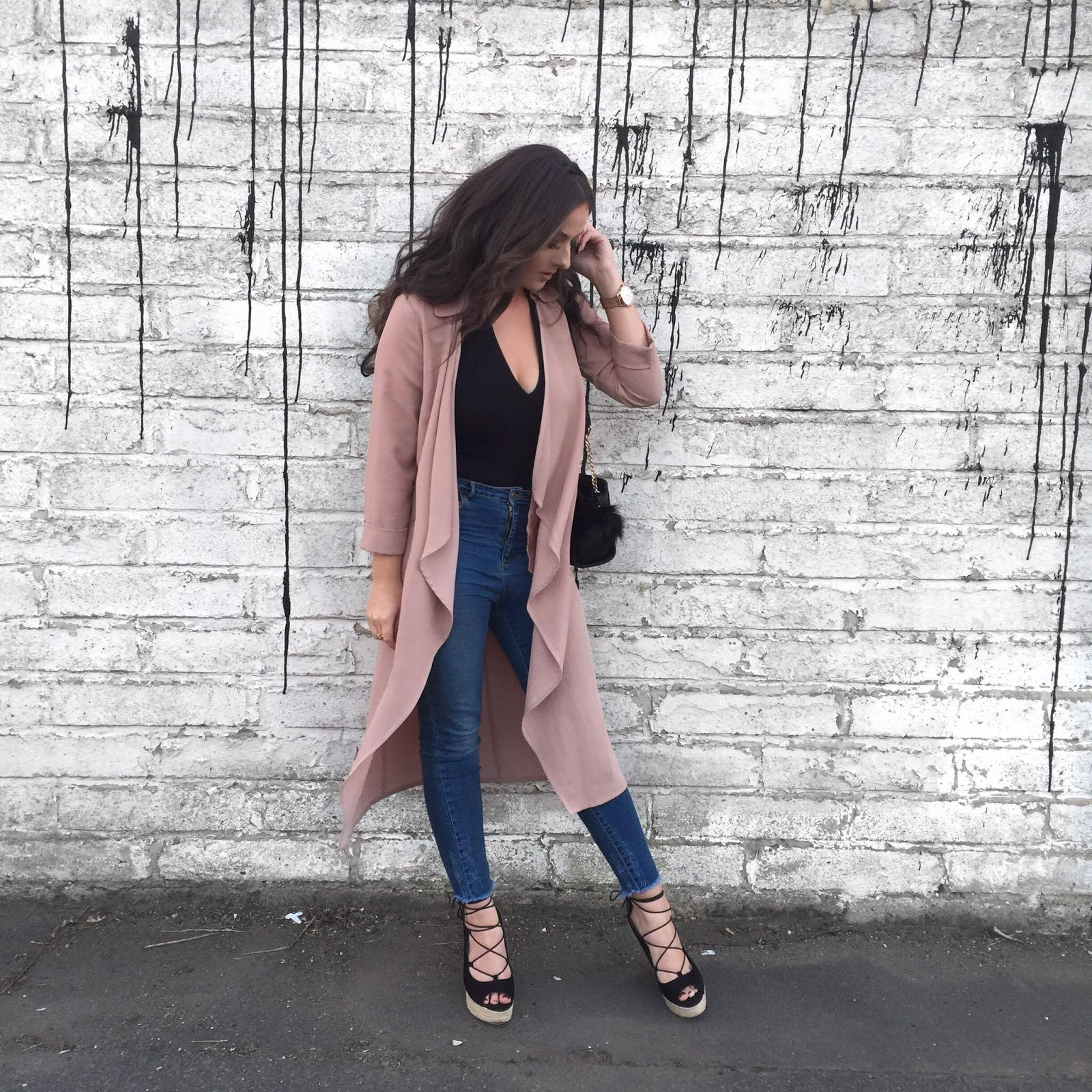 Fashion blogger wearing full primark outfit
