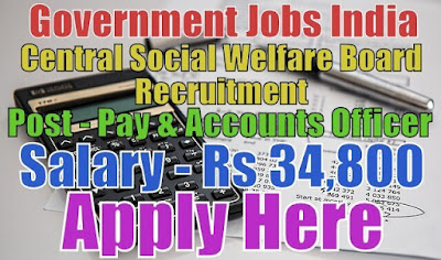 Central Social Welfare Board CSWB Recruitment 2017