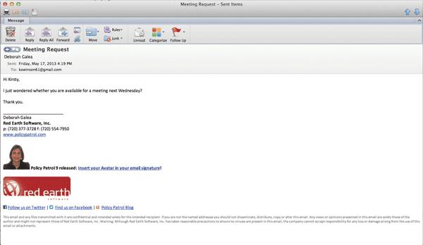 Email Signature Format Slim Image
