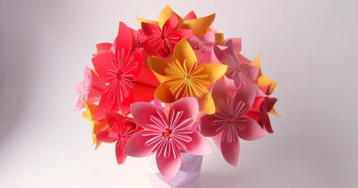 bouquet de fleurs origami saint valentin truc tricks. Black Bedroom Furniture Sets. Home Design Ideas