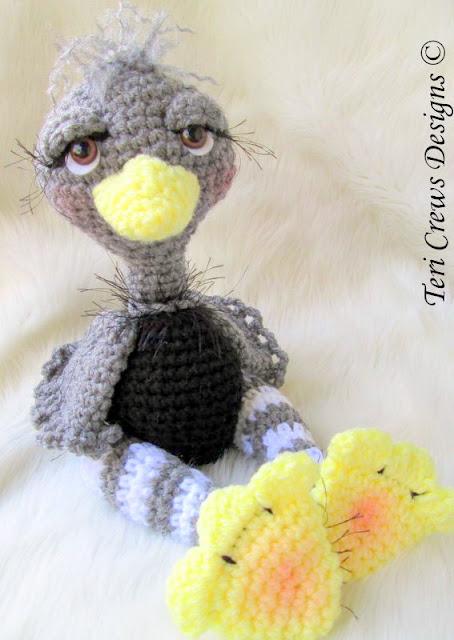 Ostrich bird Crochet pattern