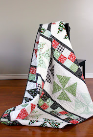 Pinwheels and Patchwork - a free quilt pattern from A Bright Corner