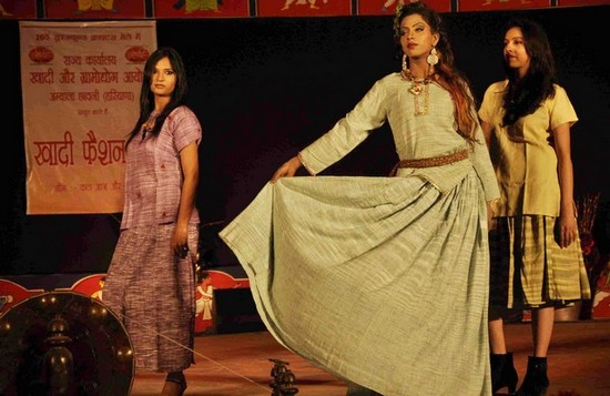 Khadi dress in fashion show