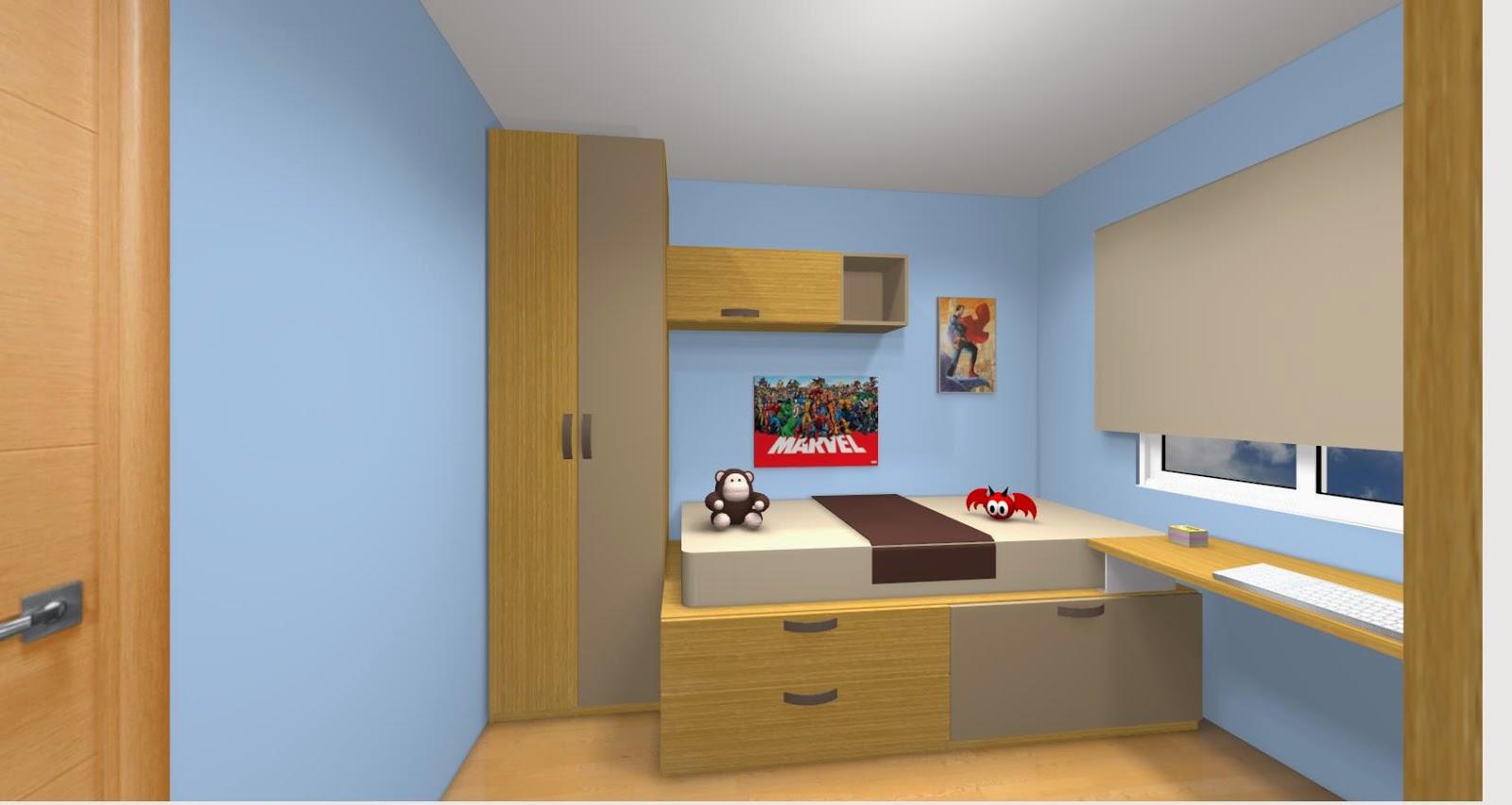 Amueblar habitacion en xikara - Cama armario debajo ...
