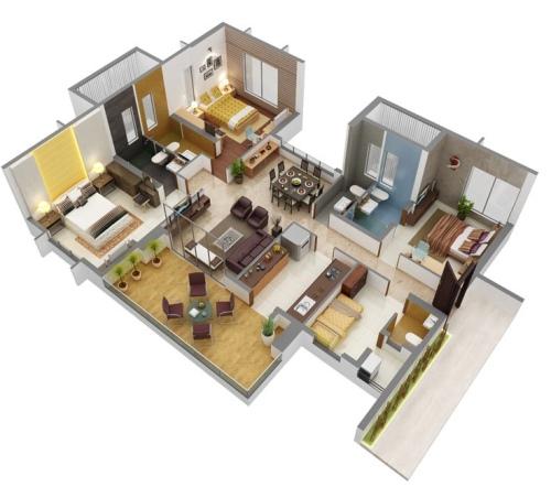 Denah rumah dengan 4 kamar tidur, REFERENSI RUMAH