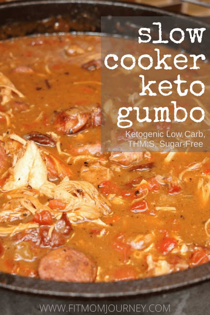 #TOPRECIPES KETO GUMBO (SLOW COOKER, THM:S, LOW CARB, PALEO, KETOGENIC, WHOLE30)