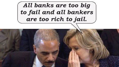 Eric Holder and Hillary Clinton