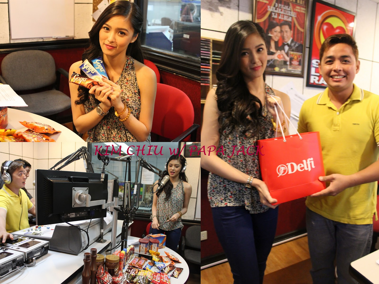 """abba71806f Kim visited Love Radio 90.7 during the program """"True Love Confessions""""  hosted by famous radio DJ Papa Jack"""