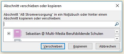 VT16: Toolbox: Arbeitsblätter in OneNote einfügen