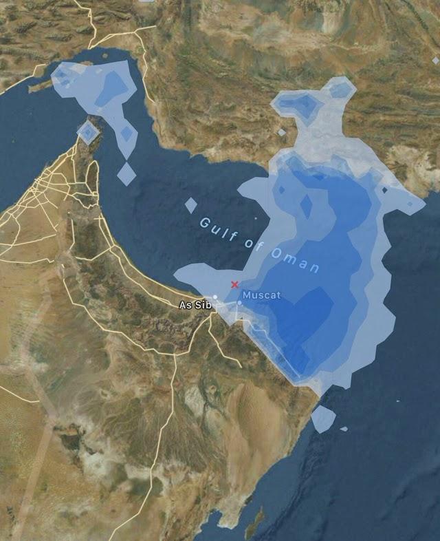 توقعات امطار على #مسقط و #مسندم