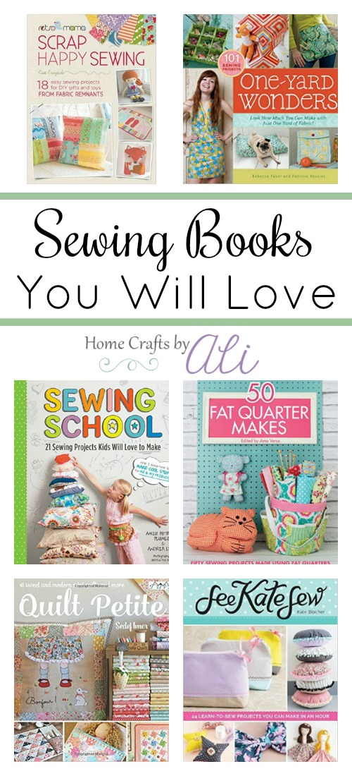 list of sewing books you will love - quilting, scrap sewing, decor, clothes, accessories