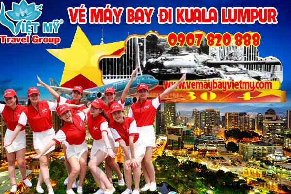 Vé máy bay giá rẻ lễ 30/4 - 1/5 đi Kuala Lumpur