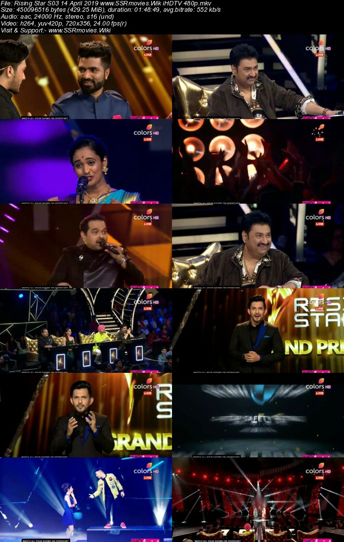 Rising Star S03 14 April 2019 HDTV 480p Full Show Download