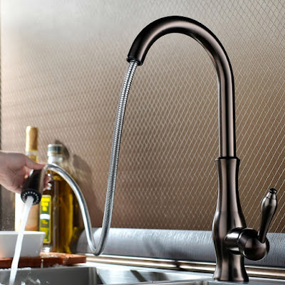 Gooseneck Kitchen Faucet With Pull Out Spray