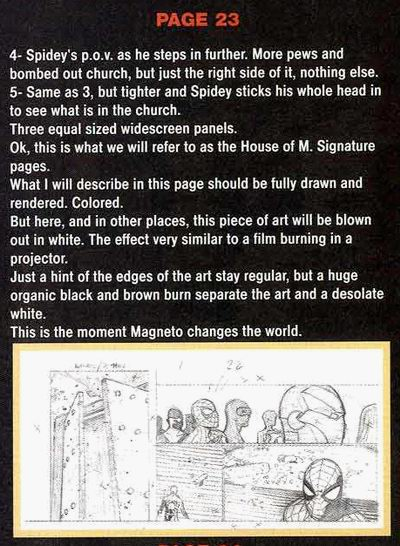 Sample page of House of M Director's Cut