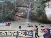 Pesona Wisata Air Terjun Batu Mahasur Kalimantan Tengah