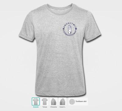 Tee se itse t-paita editorissa Anonyymit uusavuttomat