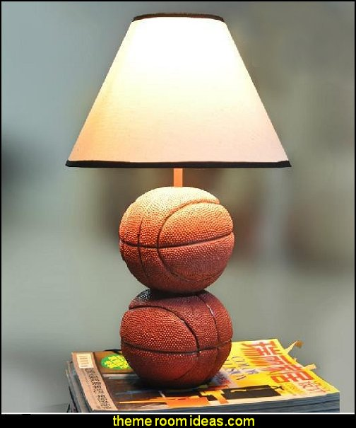 Basketball Table Lamp  basketball bedroom ideas - Basketball Decor - basketball wall murals - basketball bedding - basketball wall decal stickers - basketball themed bedrooms - basketball bedroom furniture - basketball wall decorations - Basketball wall art - Basketball themed rooms - basketball bedroom furniture - NBA bedding - Boys basketball theme