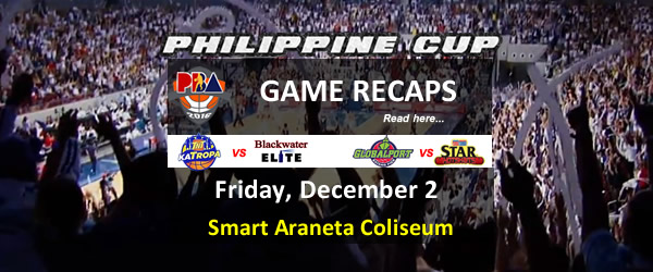 List of PBA Game(s) Friday December 2, 2016 @ Smart Araneta Coliseum