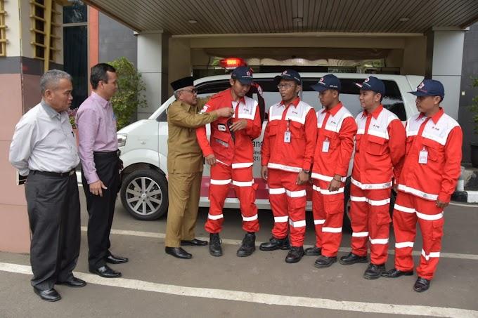 Walikota Lepas Tim Relawan PMI Bantu Korban Pesawat Lion Air JT-610