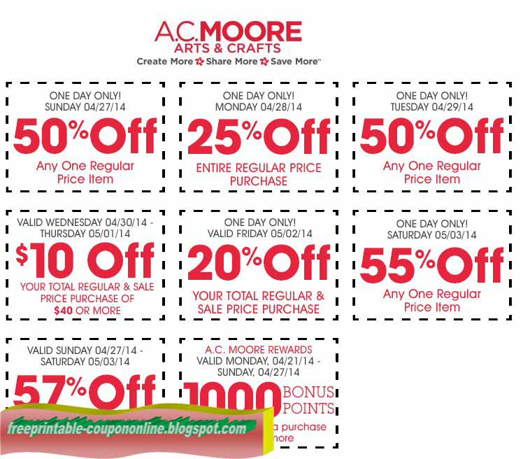 image about Ac Moore Printable Coupon Blogspot named Cost-free on the web printable ac moore discount codes