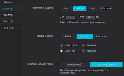 pengaturan/setting Nox app 1