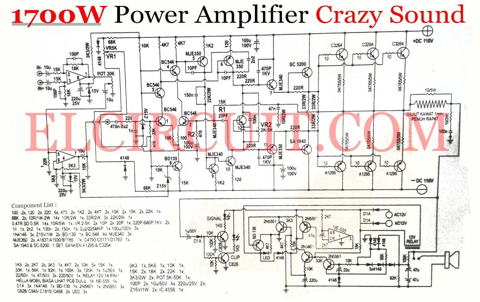 Power Amplifier 1000w Rocky Tef Electronics T Circuit 500w Transistor Audiocircuit 1700w Crazy Sound Output