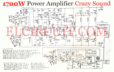 crazy sound 1700w power amplifier circuit electronic circuit. Black Bedroom Furniture Sets. Home Design Ideas
